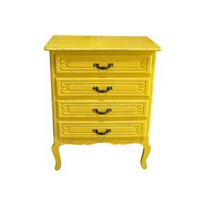 komoda żółta