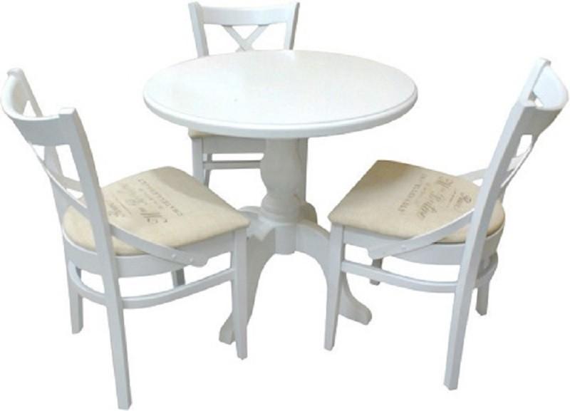 Stół okrągły biały S-80