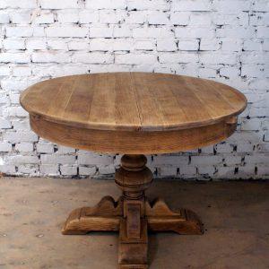 Stół okrągły rozkładany 110+50